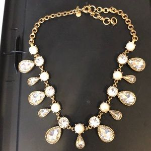 Stunning JCrew necklace- pearls and rhinestones